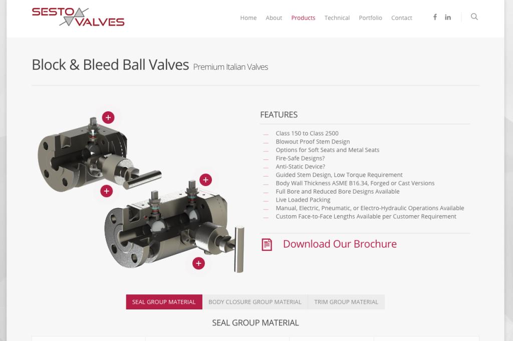 Block Amp Bleed Ball Valve Sesto Valves
