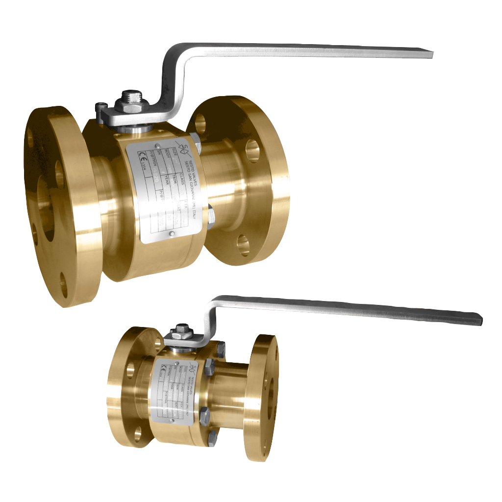 Nickel-Aluminum-Bronze (C95800) Split-Body Ball Valve